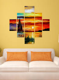 wall stickers myntra wall stickers myntra wall stickers myntra wall stickers myntra destudio multicoloured boat painting wall sticker