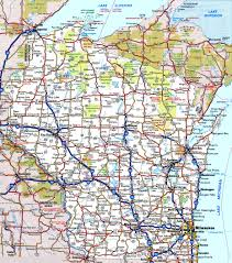 Detailed Map Of Michigan Wisconsin Road Map