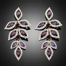 purple earrings aliexpress buy 2017 new purple earrings for women party and