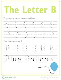 letter b tracing practice worksheet education com