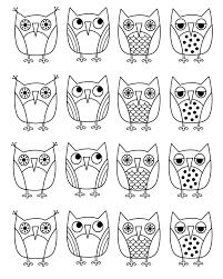 owl coloring page www mindsandvines com