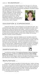 Interior Designer License by Susannah West Interior Design About Susannah