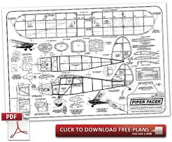 free rc plans piper pacer model aviation