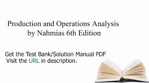 practice test bank for production and operations analysis by