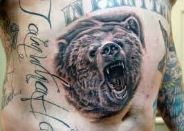 grizzly bear tattoo art and designs page 9