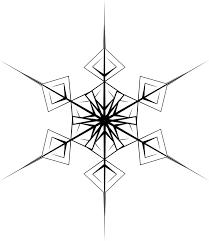 free vector graphic crystal hexagonal snowflake free image on
