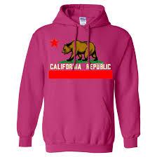 California State Flag California Flag Borderless Asst Colors Sweatshirt Hoodie