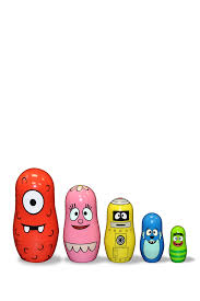 mr potato head yo gabba gabba nesting doll set hautelook