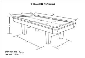 Professional Pool Tables Professional Pool Table Size Professional