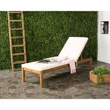 Good Wood For Outdoor Furniture by Lie Back On The Safavieh Maddalena Wood Patio Chaise Close Your