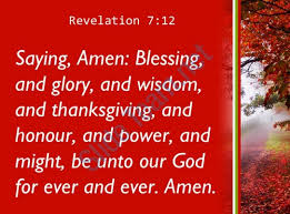 revelation 7 12 praise and and wisdom powerpoint church