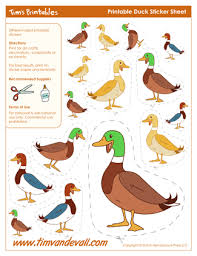 printable duck stickers duck shapes duck templates for art crafts