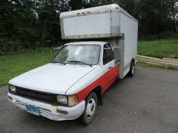 toyota uhaul truck for sale 1990 v6 toyota 1 ton dually box truck retired uhaul for sale