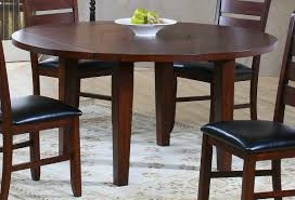 square table with leaf homelegance ameillia round drop leaf table 586 60