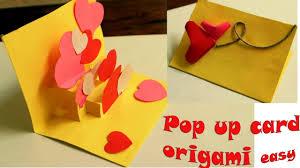 Cara Membuat Kartu Ucapan I Love You | membuat origami i love you pop up card tutorial youtube