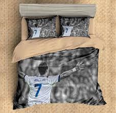 3d customize cristiano ronaldo bedding set duvet cover set bedroom
