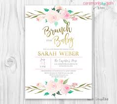 baby shower brunch invitations brunch for baby invitation baby girl invites boho baby