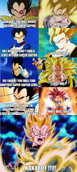 Dbz Funny Memes - super saiyan 1 4 and now there s a level above that poor vegeta