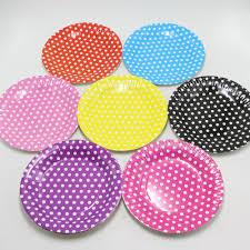 paper plates 10pcs lot 18cm candy color festival disposable plate for