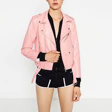 pink leather motorcycle jacket luxury brand motorcycle bomber orange leather jacket women shorts