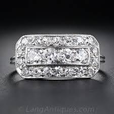art deco diamond cigar band ring