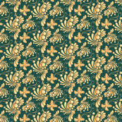 golden balls small white background ornate swirly butterflies