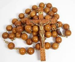 wall rosary vintage 52 large wood wall rosary religious carved crucifix