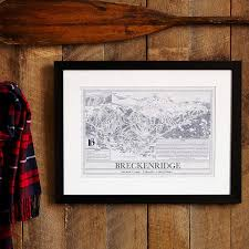 kirkwood home decor ski resort blueprints ski resort wall art uncommongoods