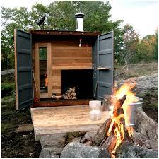 backyard sauna home outdoor decoration