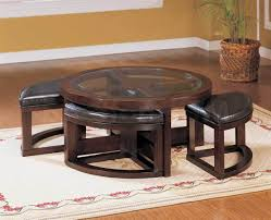 round coffee table with 4 stools coffee table round coffee table with stools storage valparaiso in