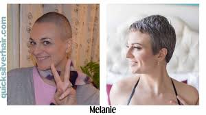 images of grey hair in transisition how do you transition from dyed hair to your natural grey hair