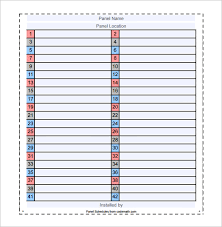 Patch Panel Label Template Excel Panel Schedule Template 18 Free Word Excel Pdf Format