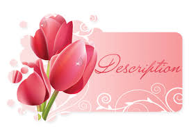 free pink tulips ebay template free pink tulips auction template