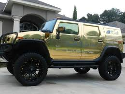Used 24 Rims Purchase Used 2007 Hummer H2 Chrome Gold Lifted With 24