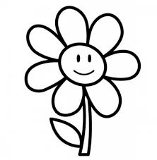 flowers drawing for kids drawing art library