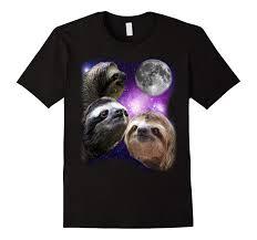 Three Wolf Shirt Meme - three sloth 2017 new arrival three wolf moon parody meme t shirt