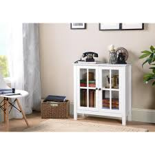accent cabinet with glass doors os home and office white glass door accent and display cabinet 22600
