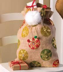 burlap santa bag joann