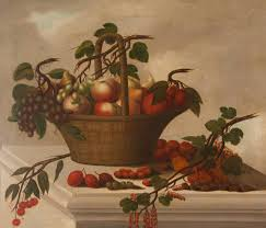 Basket Of Fruit Old Master Still Life Painting Of A Basket Of Fruit For Sale At