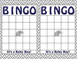 blank baby shower bingo cards printable party baby boy