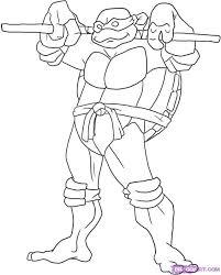 ninja turtle clipart black white