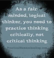 Critical    Critiquing    Thinking Objective  amp  Subjective