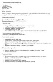 Construction Superintendent Resume Samples by 28 Superintendent Resume Sample Construction Superintendent