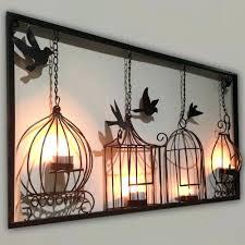 bird decor for home wall decor ergonomic metal bird wall decor for your house silver
