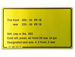 porsche 911 tire pressure sticker tire pressure for porsche 911 sc and porsche