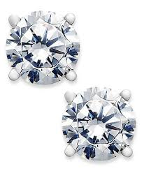 s diamond earrings diamond stud earrings 3 4 ct t w in 14k gold or white gold
