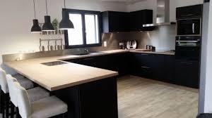 plan de travail cuisine noir cuisine chene clair plan travail noir plan de travail