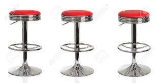 american diner bar stools three american diner stools in various poses on a white background