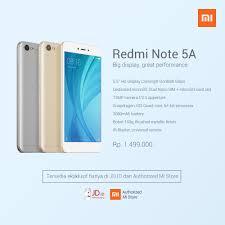 Xiaomi Indonesia Xiaomi Redmi Note 5a Lands In Indonesia Sells For 111