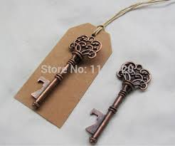 wedding favors bottle opener 6 24set antique copper vintage wedding skeleton key bottle opener
